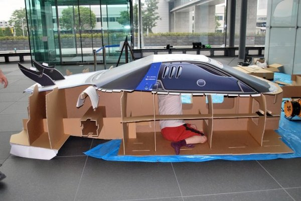 Life-Size Cardboard Honda NSX Super GT Race Car - ForceGT.com