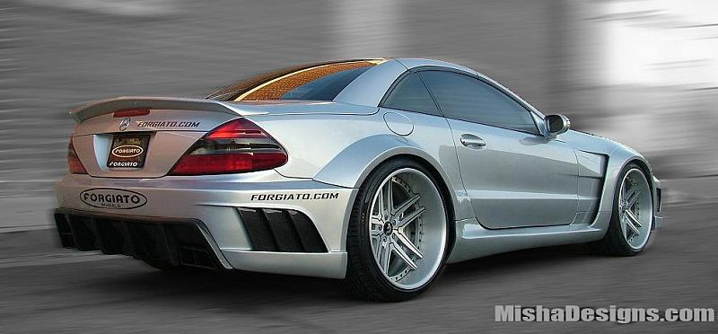 Misha Design Spices Up Mercedes Sl With Wide Body Kit Forcegt Com