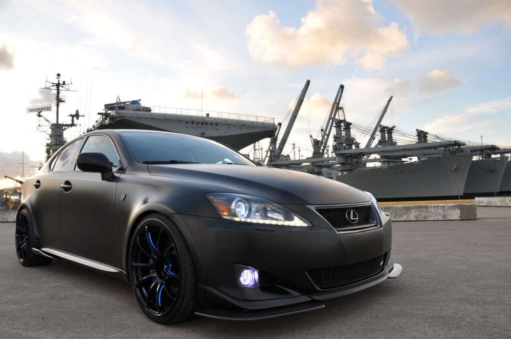 Tuned Matte Black Wide Body Lexus Is350