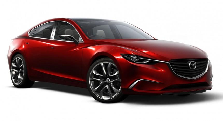 Mazda Takeri Concept Previews 2013 Mazda 6 Saloon
