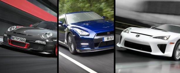 Lexus LFA vs GTR http://www.forcegt.com/videos/video-nissan-gt-r-vs-porsche-911-gt3-rs-vs-lexus-lfa/