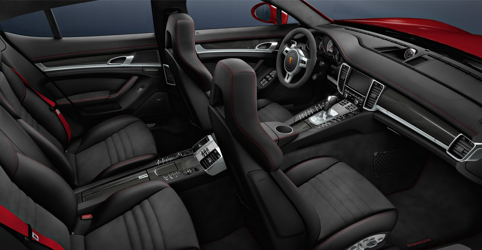 2011 la auto show porsche panamera gts world debut for Porsche panamera interior dimensions