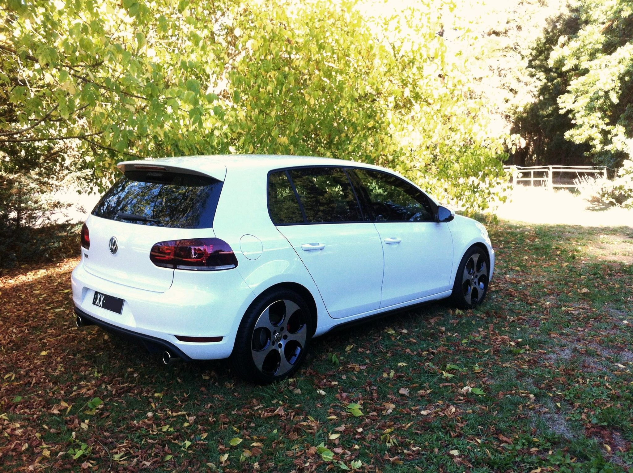 The Gleaming White VW Golf
