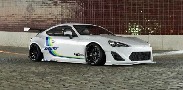 toyota tuning trust greddy widebody toyota gt86 rendering. Black Bedroom Furniture Sets. Home Design Ideas