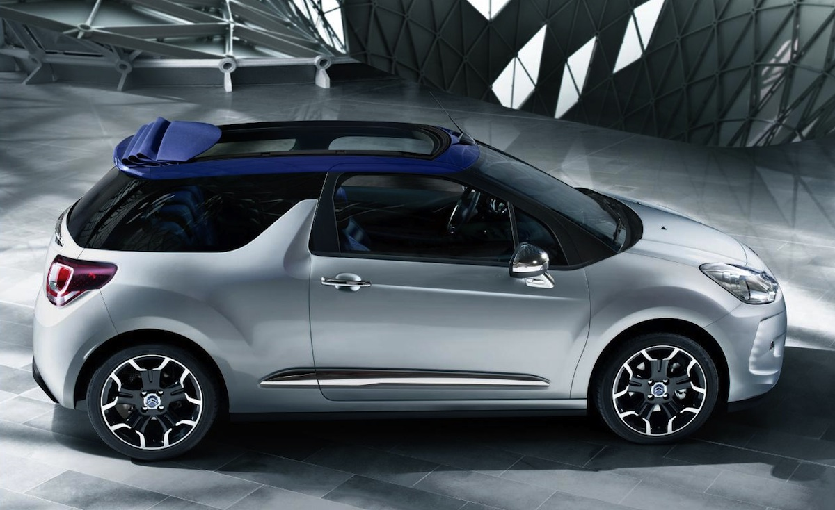 new citroen ds3 cabrio previewed ahead of 2012 paris motor show. Black Bedroom Furniture Sets. Home Design Ideas