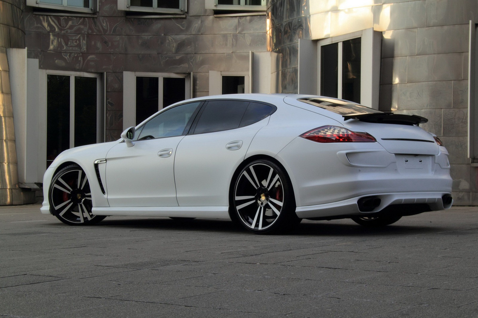porsche panamera white snow by anderson germany