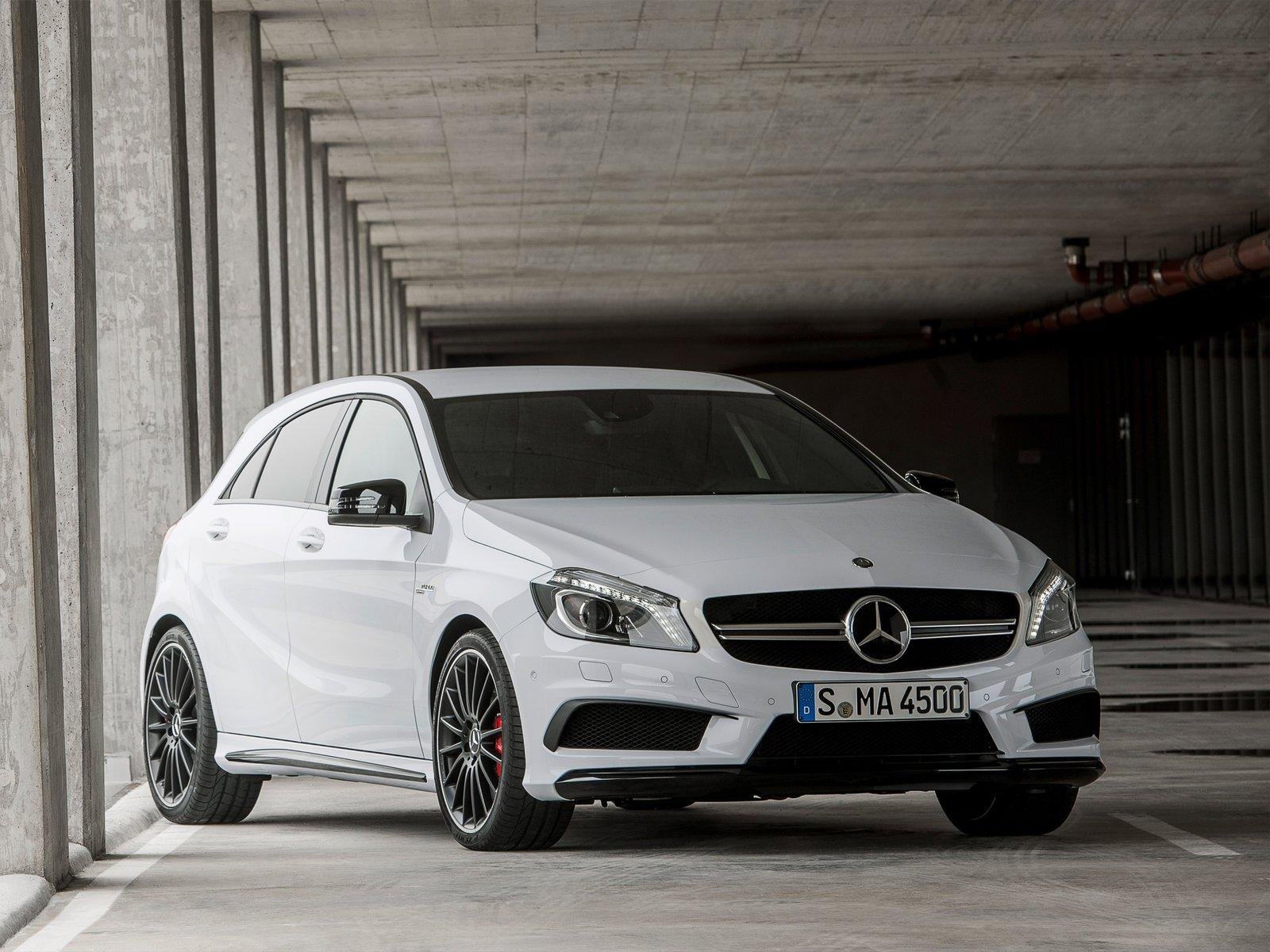 mercedes benz a45 amg unveiled ahead of geneva motor show. Black Bedroom Furniture Sets. Home Design Ideas