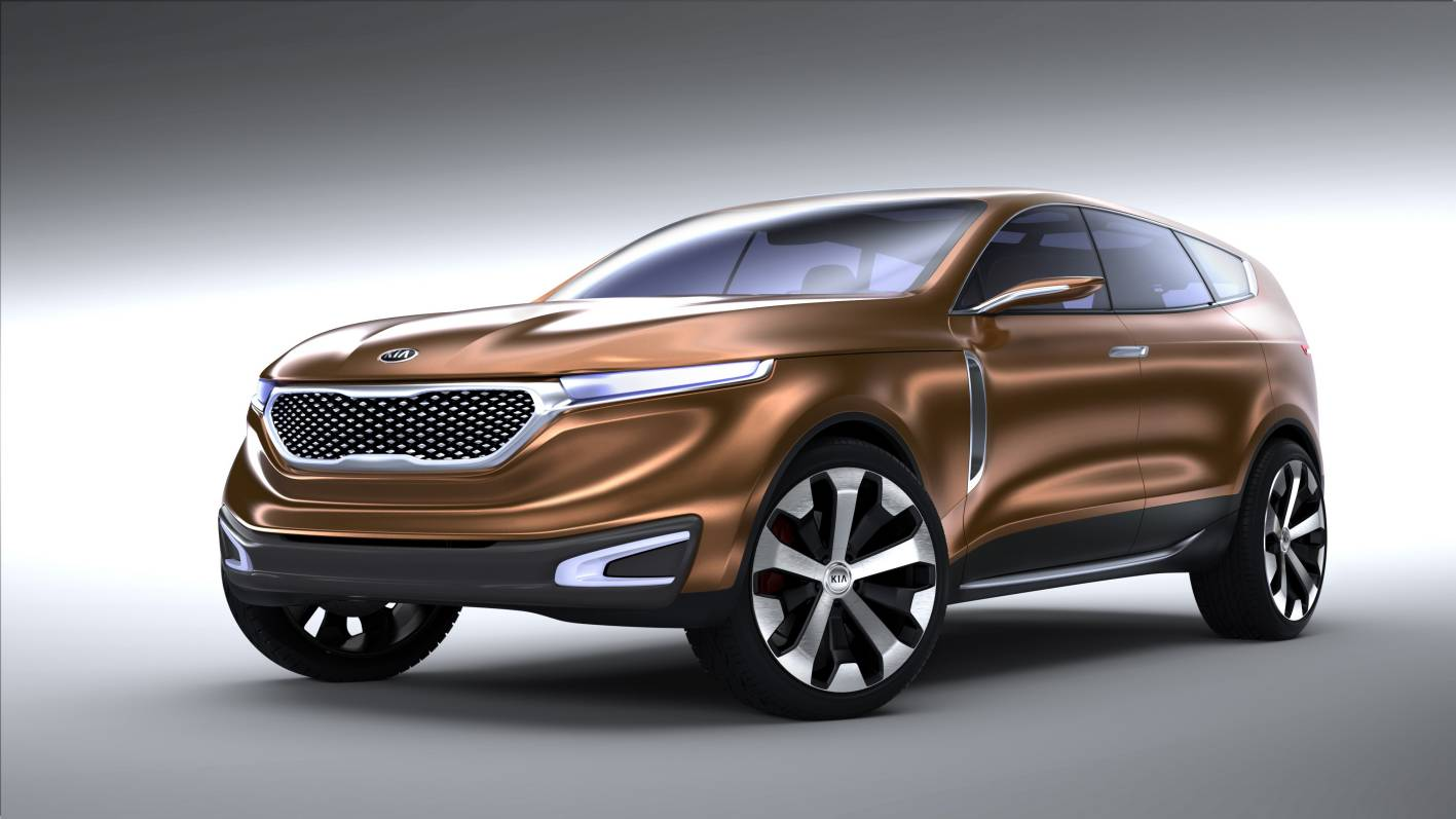 kia has unwrapped the kia cross gt concept suv at the 2013 chicago