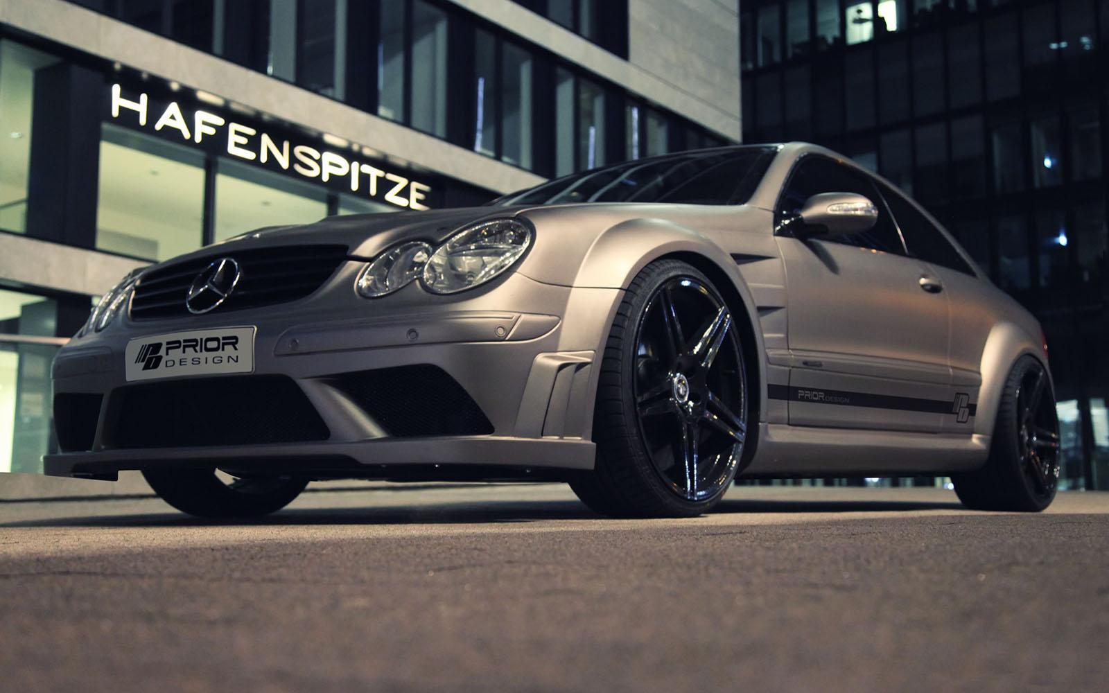 Prior design introduces clk amg black series body kit for Mercedes benz clk black series body kit