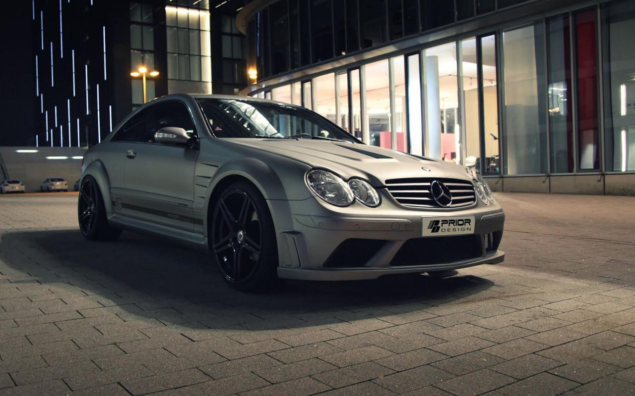 Prior design introduces clk amg black series body kit for Mercedes benz clk 2013