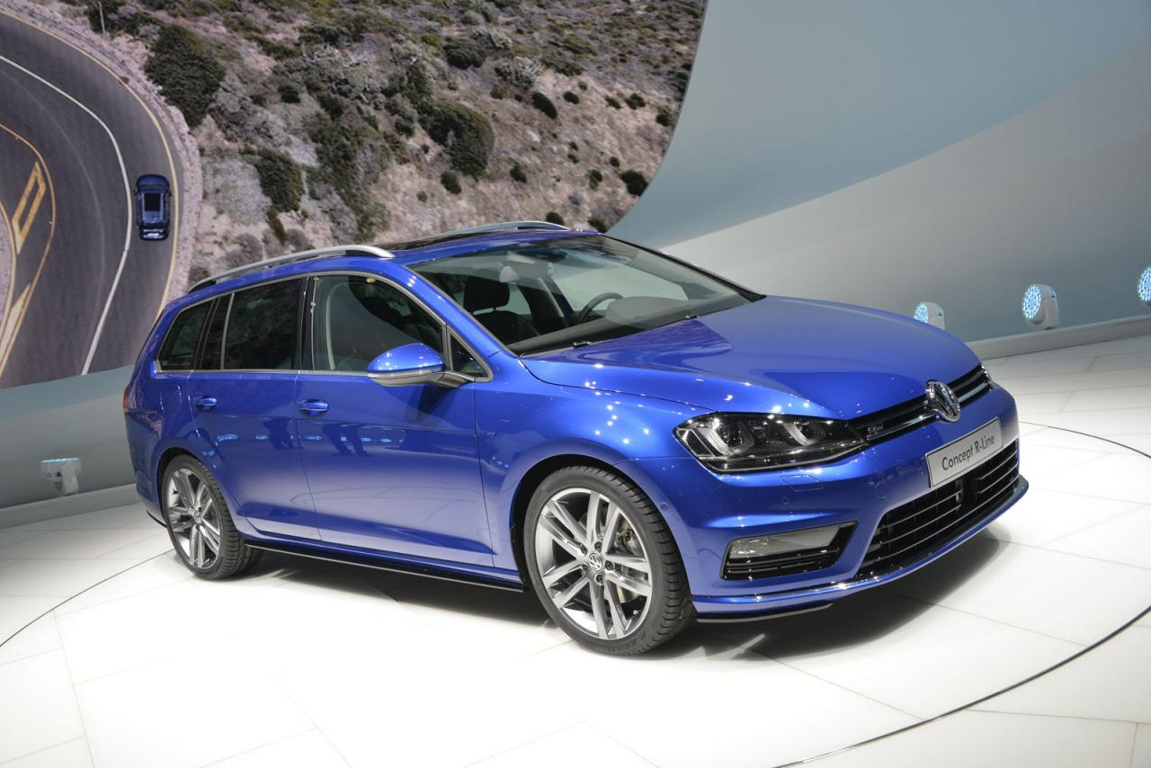 volkswagen cars news mk7 golf wagon r line concept. Black Bedroom Furniture Sets. Home Design Ideas