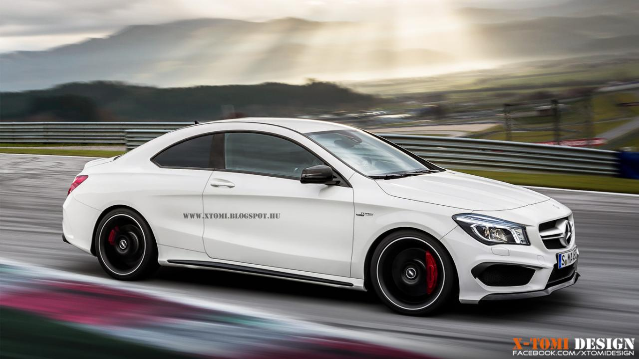 mercedes cars news cla45 amg imagined as a coup. Black Bedroom Furniture Sets. Home Design Ideas