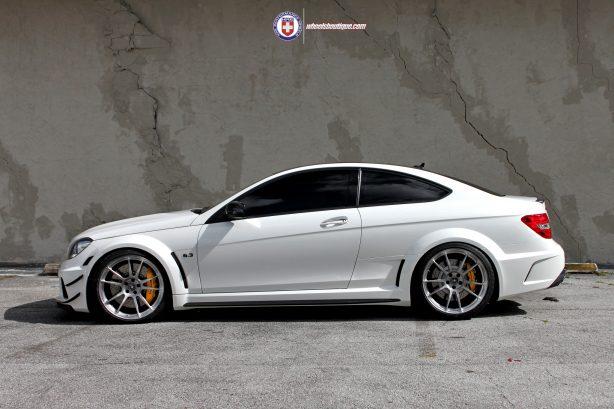 C63 Amg White Black Rims Mercedes C63 Amg Black