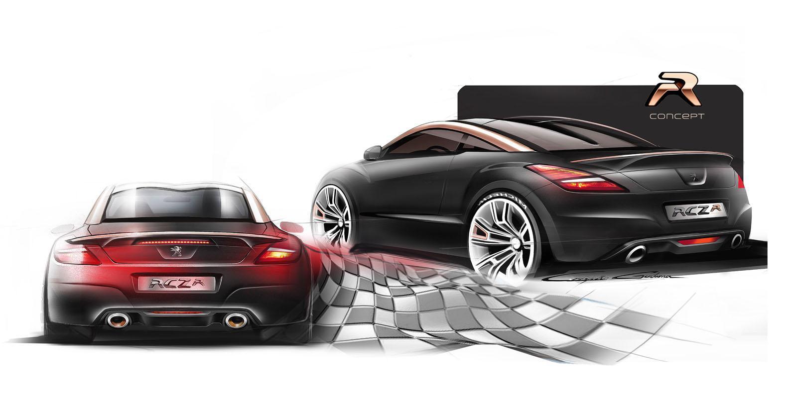 peugeot cars news rcz r debut at goodwood. Black Bedroom Furniture Sets. Home Design Ideas