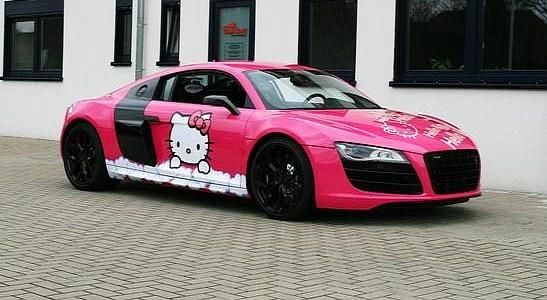 Audi Cars News Pink Hello Kitty Audi R8