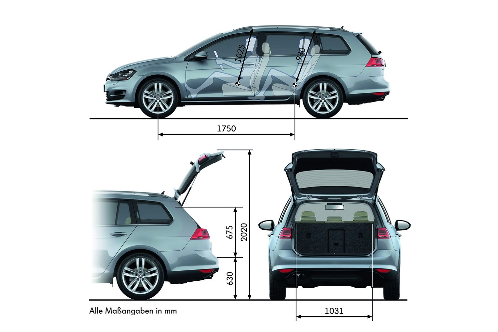 volkswagen cars news mk7 golf wagon detailed. Black Bedroom Furniture Sets. Home Design Ideas