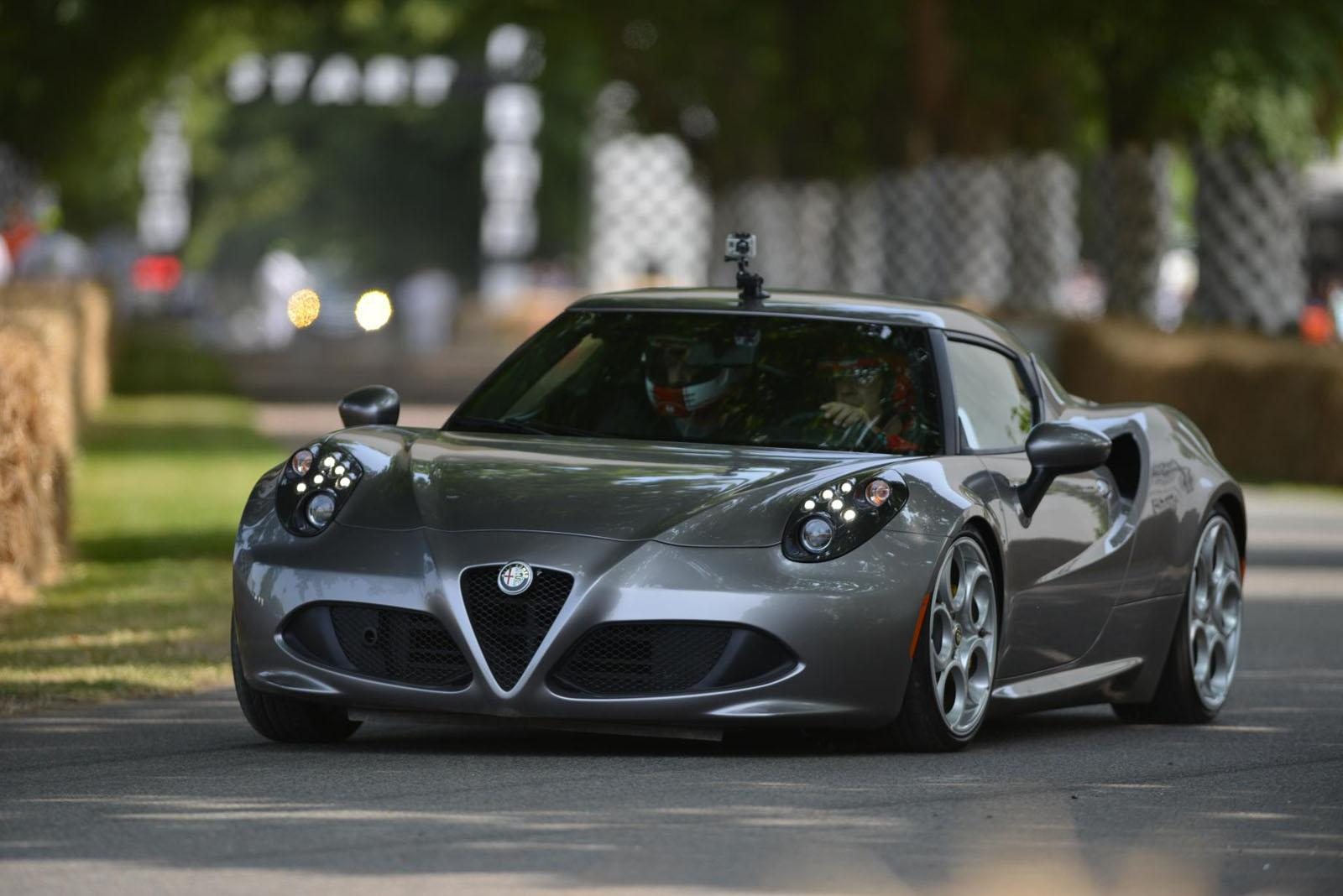 alfa romeo cars news 4c debuts at goodwood festival. Black Bedroom Furniture Sets. Home Design Ideas