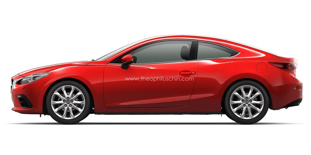 mazda cars news 2014 mazda3 envisioned as a coupe. Black Bedroom Furniture Sets. Home Design Ideas