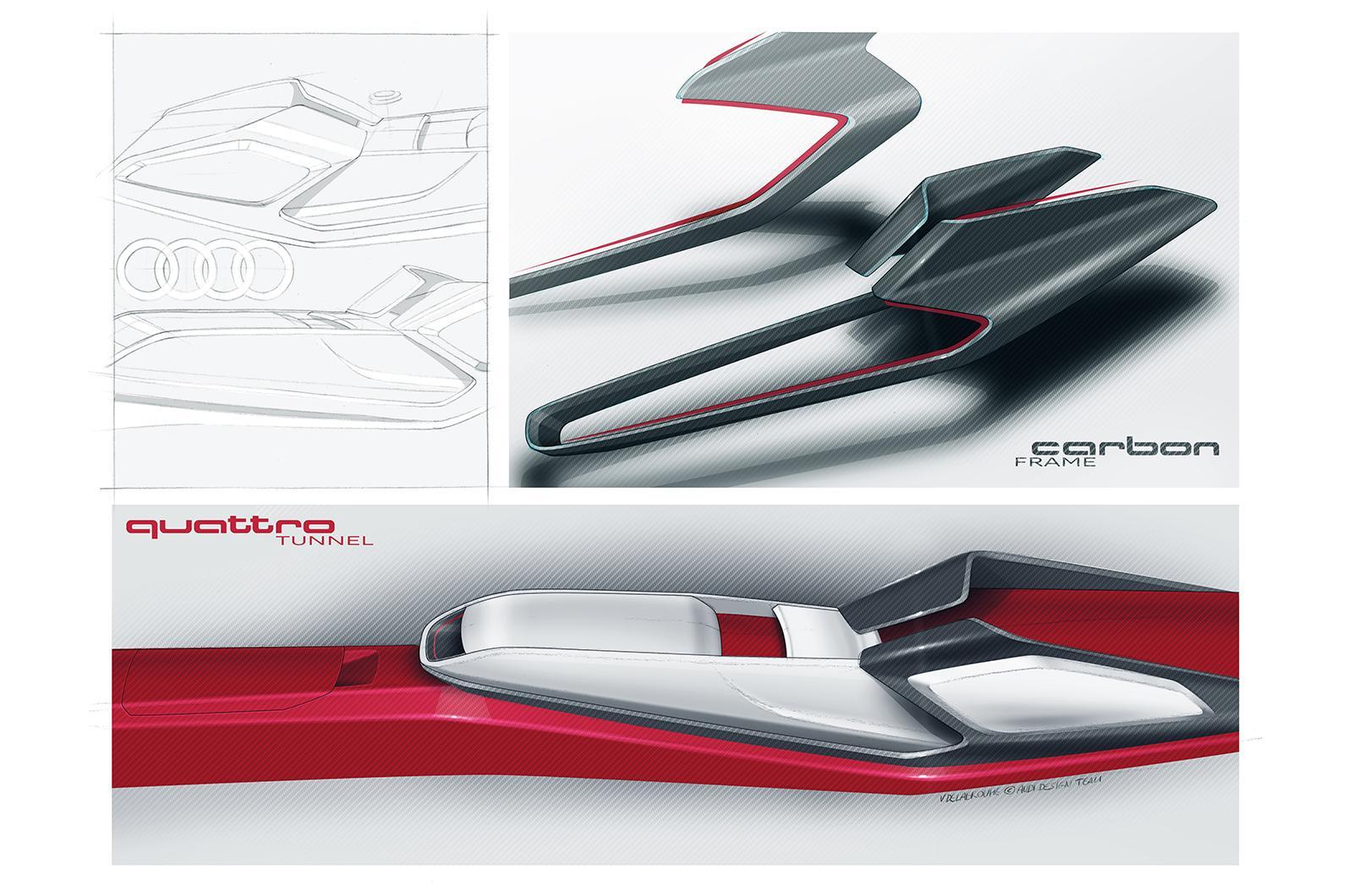 2013 Audi Quattor Concept Sketch Interior Centre Console