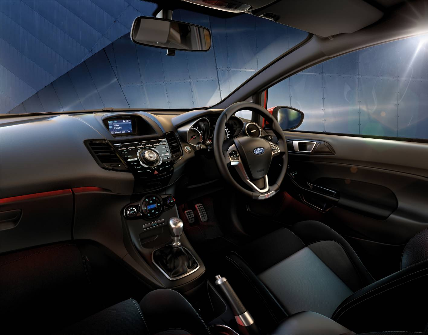 how to turn on ford fiesta rear parking sensors