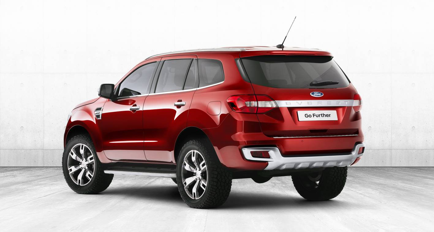 Ford Everest Concept was unmistakably a new member of the Ford family