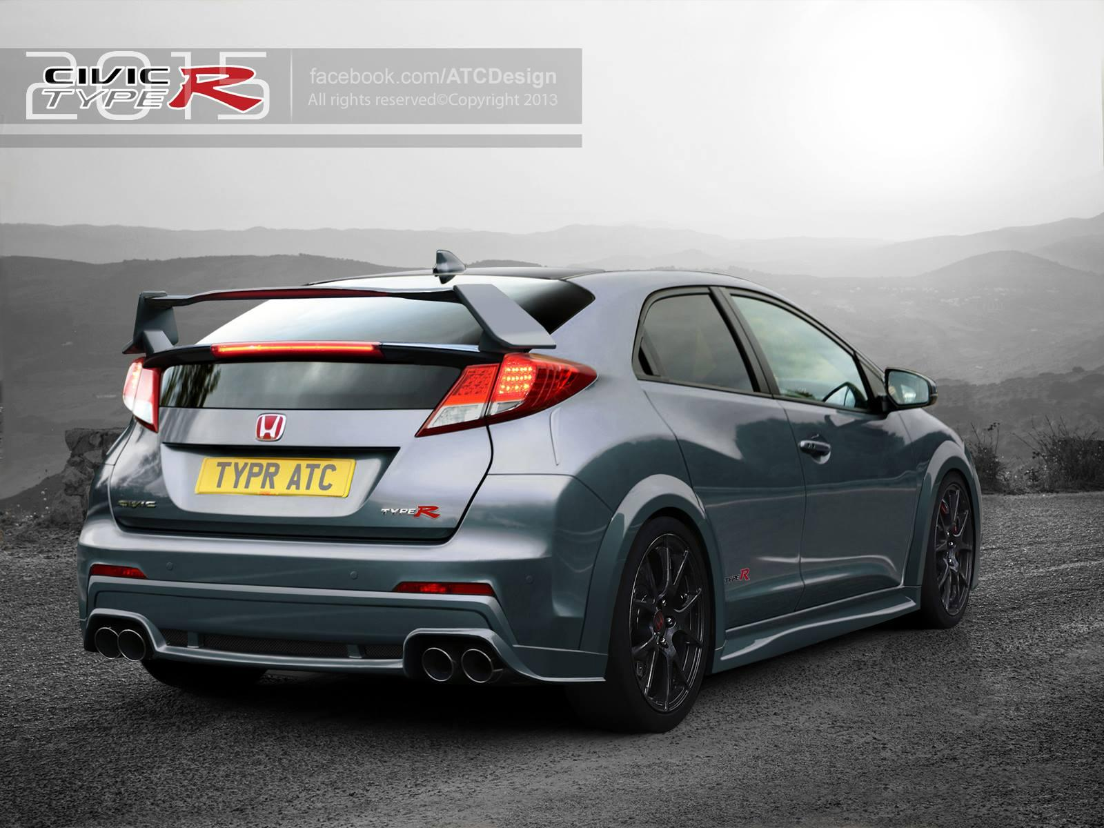 honda cars news 2015 honda civic type r imagined. Black Bedroom Furniture Sets. Home Design Ideas