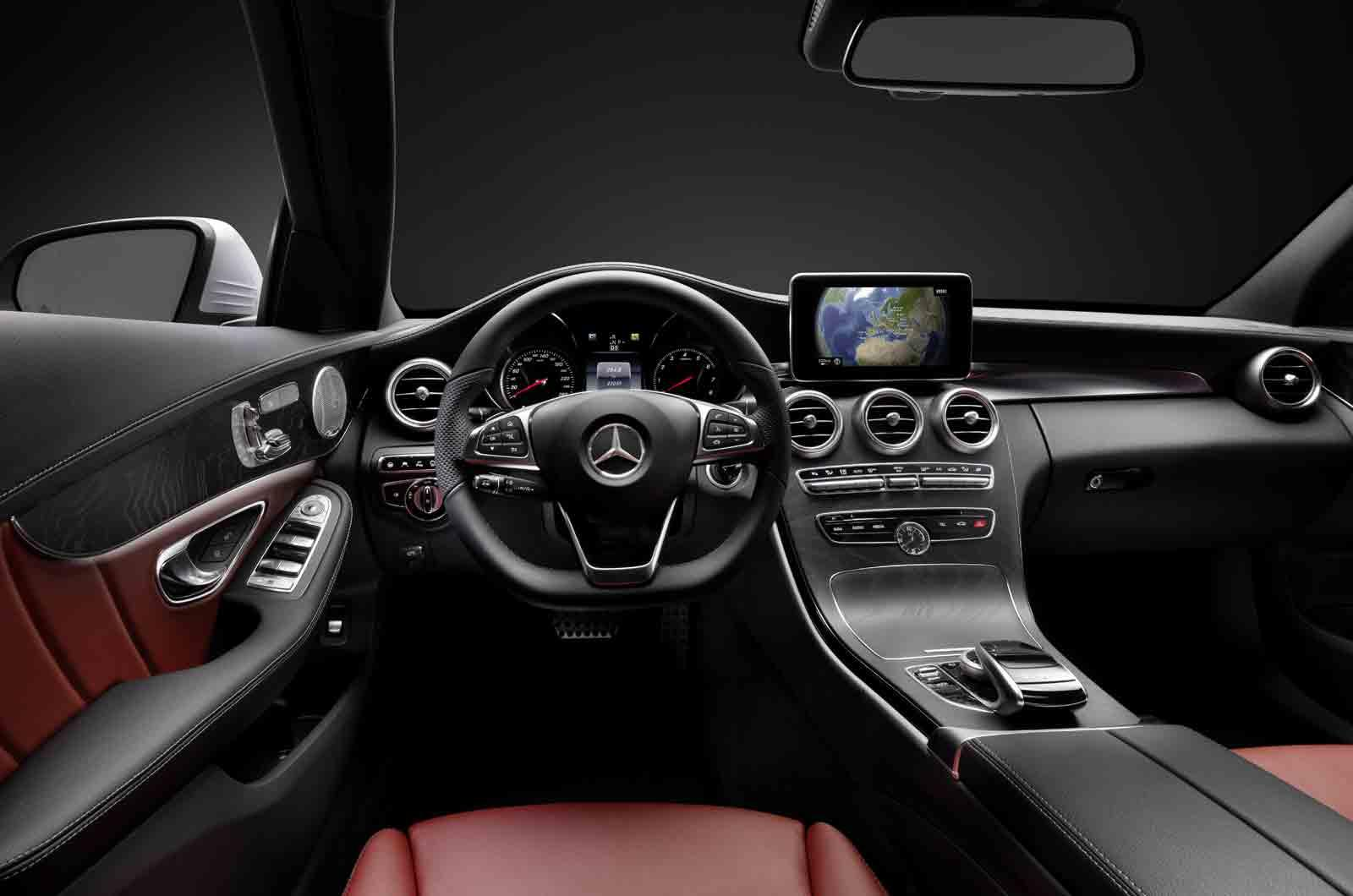 2014 mercedes benz c class interior dashboard. Black Bedroom Furniture Sets. Home Design Ideas