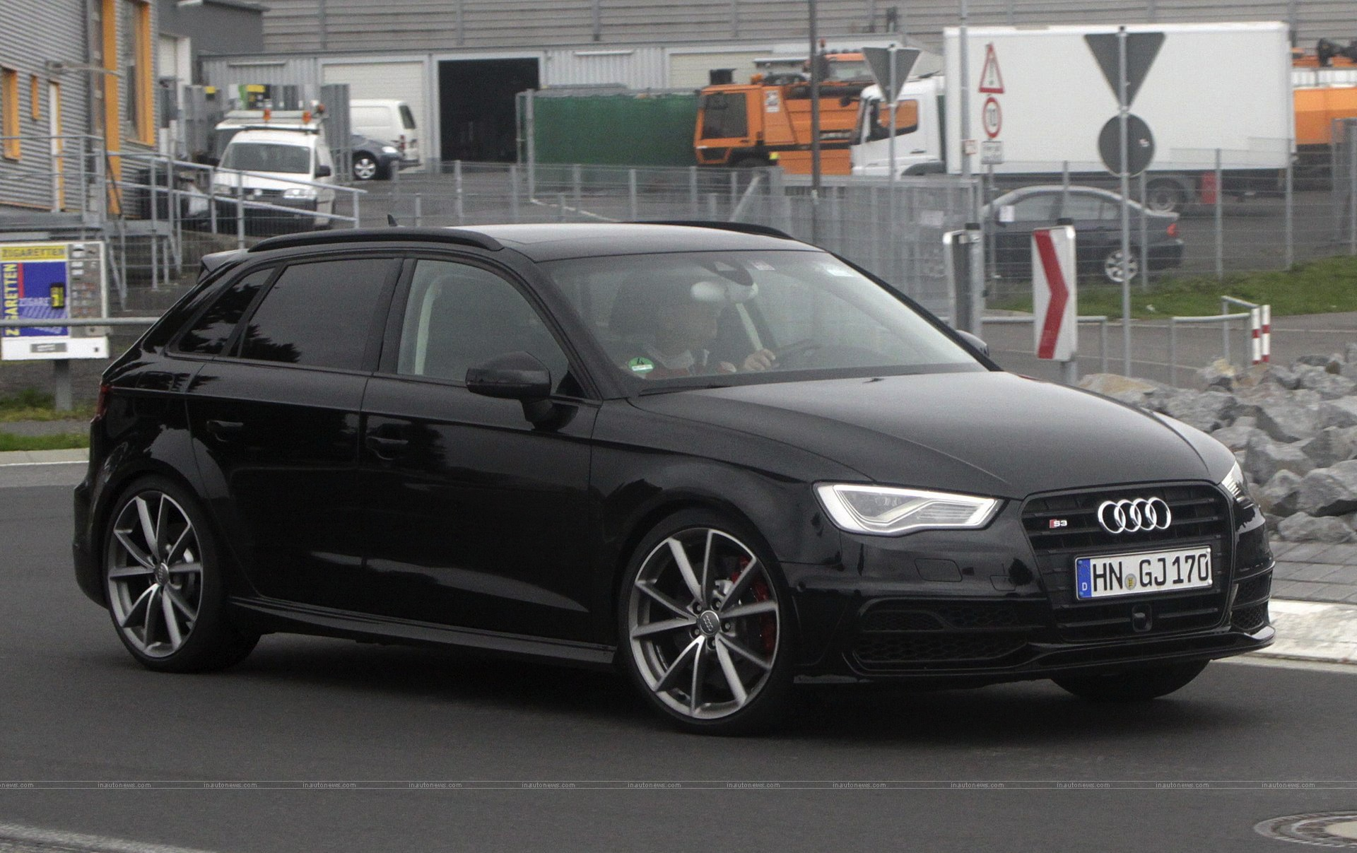 audi cars news 2015 rs3 spied testing in germany. Black Bedroom Furniture Sets. Home Design Ideas