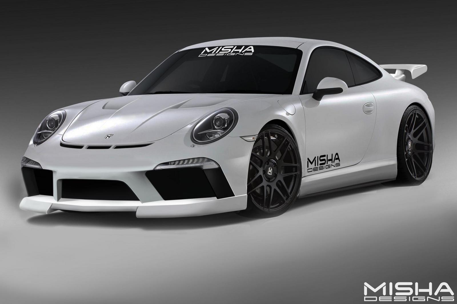 porsche cars news 911 body kit from misha design. Black Bedroom Furniture Sets. Home Design Ideas
