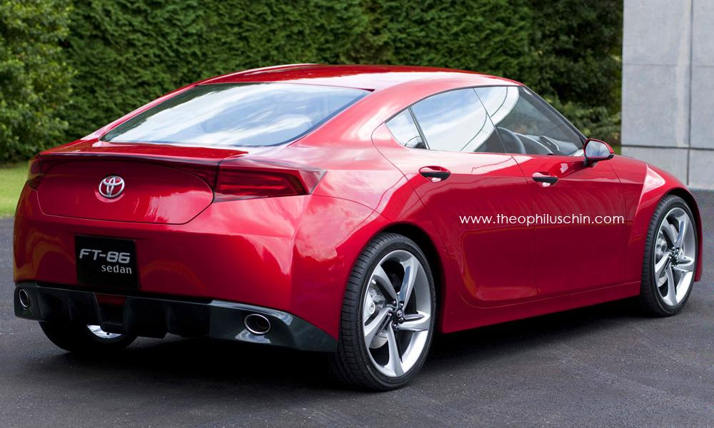 Toyota 86 Render Rear Quarter