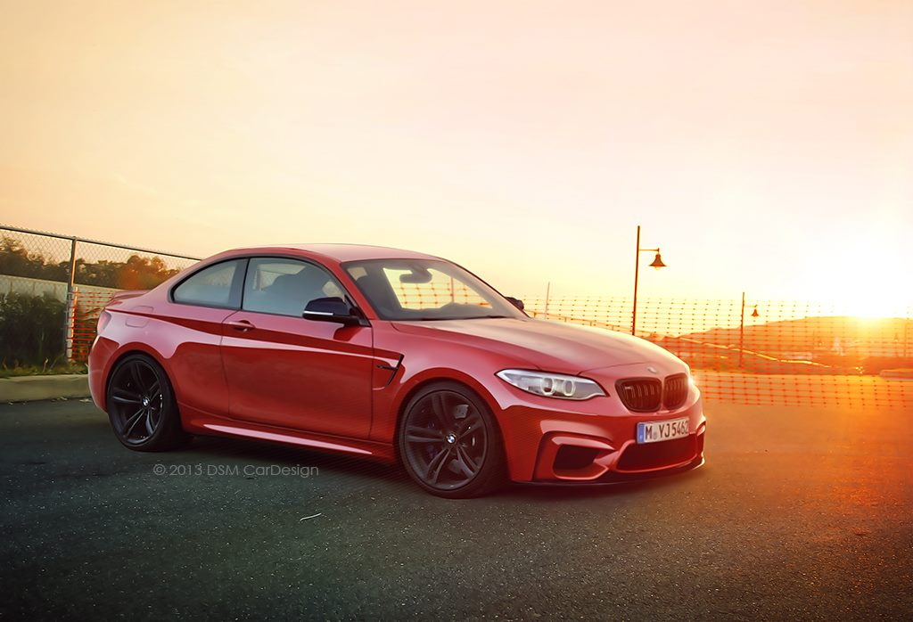 Bmw Cars News M2 Coupe Realistically Rendered