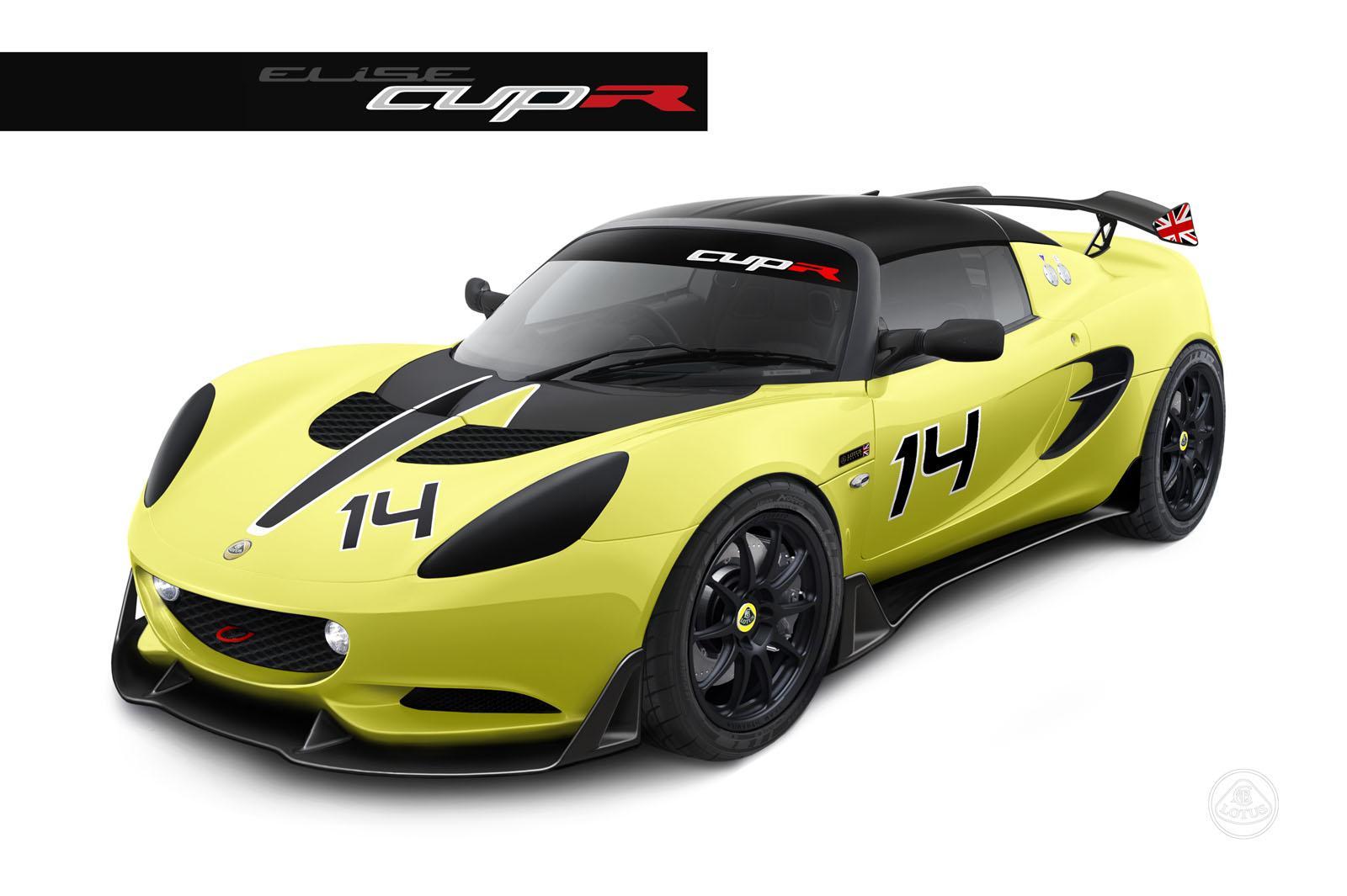 lotus cars news track only 2014 elise s cup r. Black Bedroom Furniture Sets. Home Design Ideas