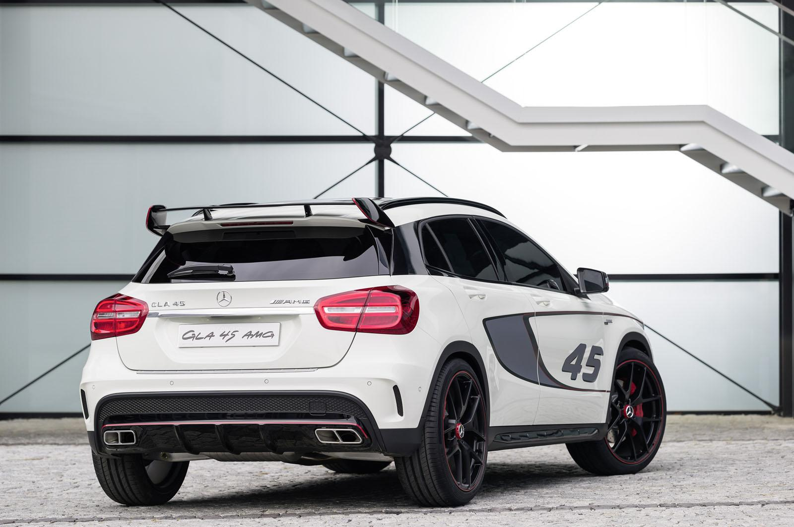 mercedes cars news gla 45 amg concept unveiled. Black Bedroom Furniture Sets. Home Design Ideas