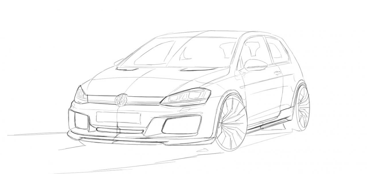 Revozport Mk7 Volkswagen Golf Gti Razor 7 Sketch Front Quarter on the new ford atlas