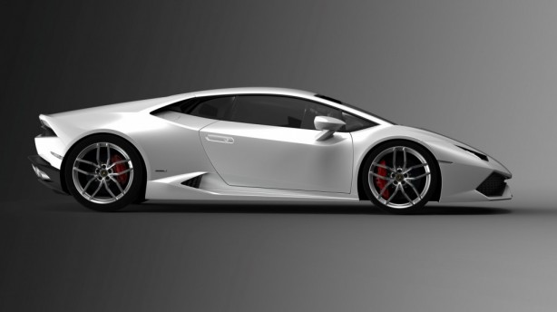 2015 Lamborghini Huracan white side
