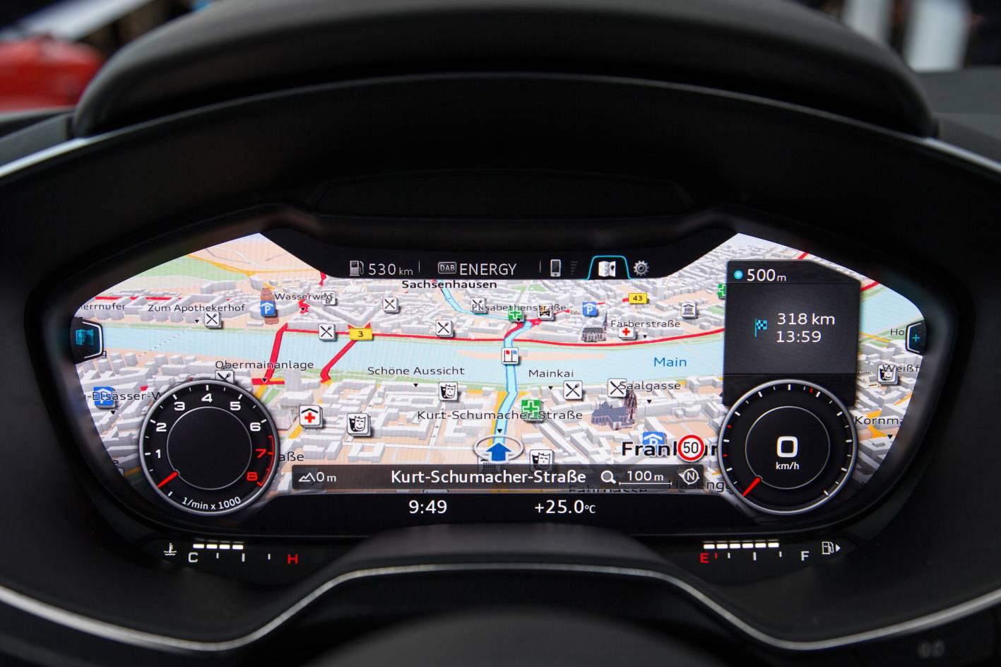 audi cars news new audi tt interior boasts virtual cockpit. Black Bedroom Furniture Sets. Home Design Ideas