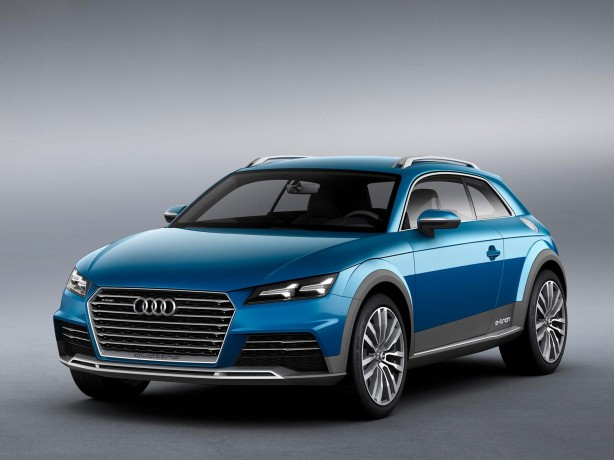 Audi Crossover Coupe concept front quarter