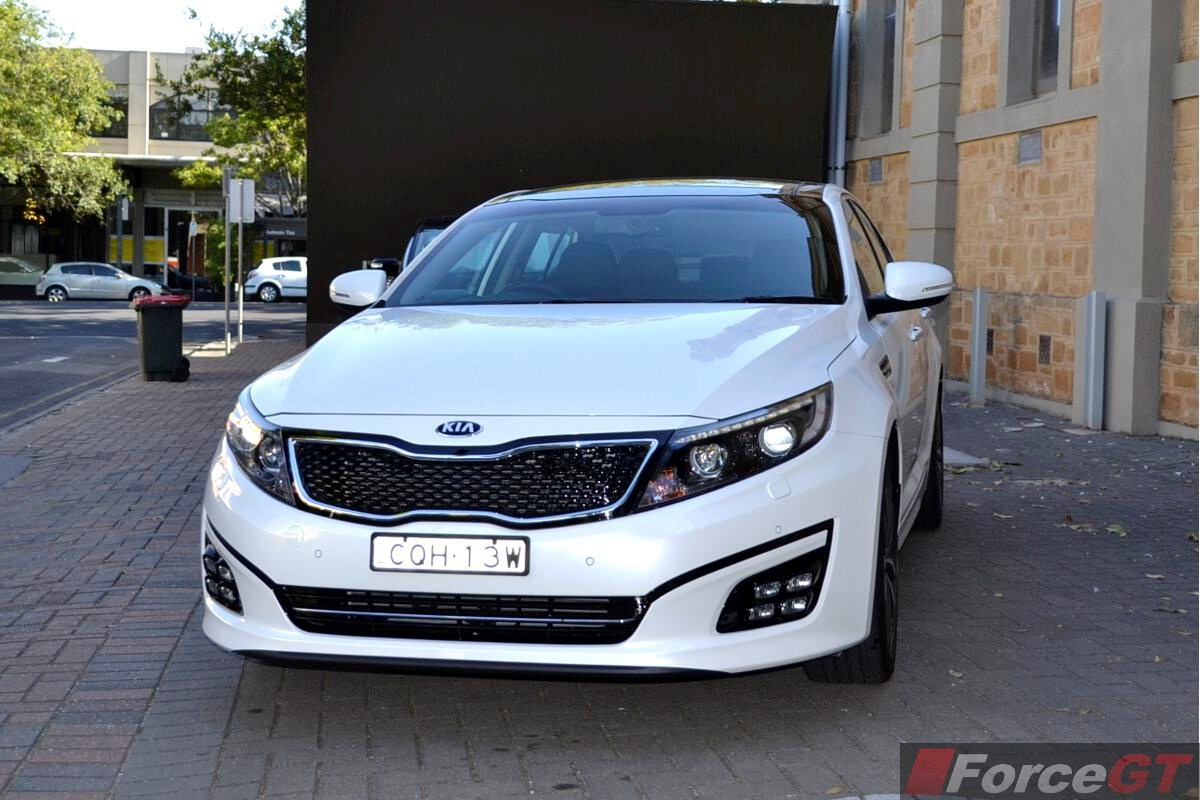 2014 kia optima review optima platinum front. Black Bedroom Furniture Sets. Home Design Ideas