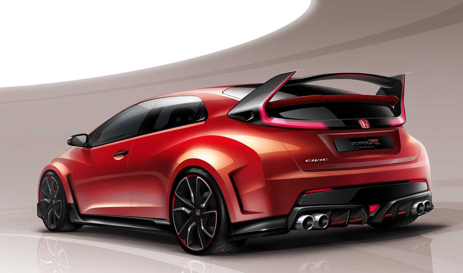 2010 Honda Civic Type R 2015-honda-civic-type-r-sketch