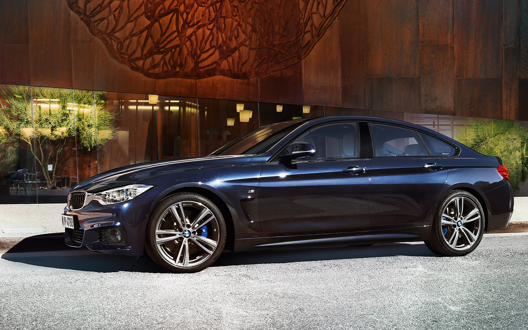 bmw 4 series gran coupe wallpaper side2