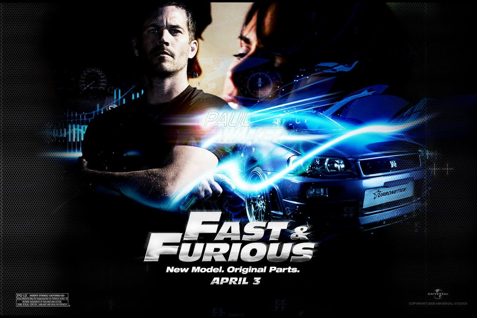 paul walker 39 s fast furious 4 poster. Black Bedroom Furniture Sets. Home Design Ideas