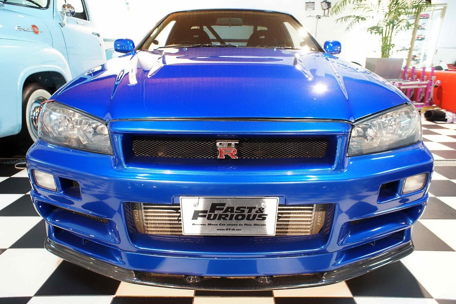 Paul Walker's Fast & Furious R34 Nissan Skyline GT-R front ...