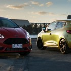 2014 Ford Fiesta ST front and 2014 Renault Clio RS - main