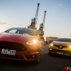 2014 Ford Fiesta ST front vs 2014 Renault Clio RS front
