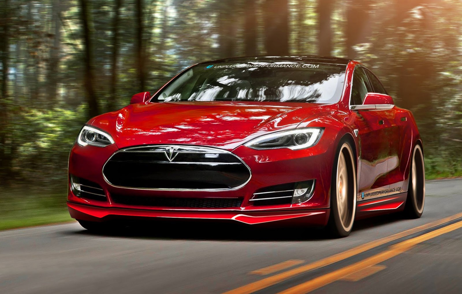 The Gallery For Gt Tesla Model S Red Wallpaper
