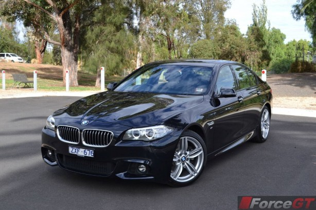 2014 BMW 5 Series LCI Front Quarter3