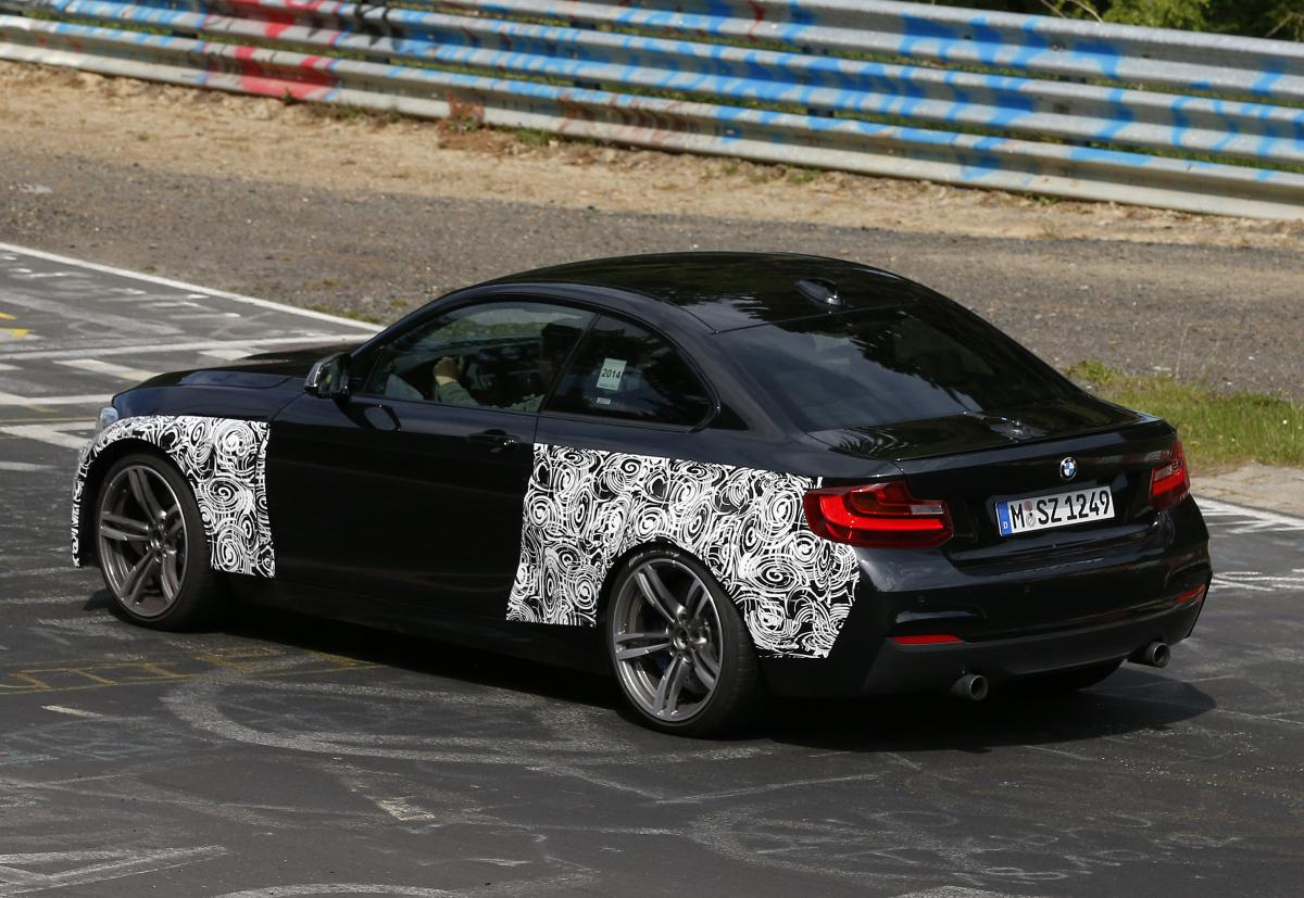 bmw cars news m2 prototype spied testing at the nurburgring. Black Bedroom Furniture Sets. Home Design Ideas