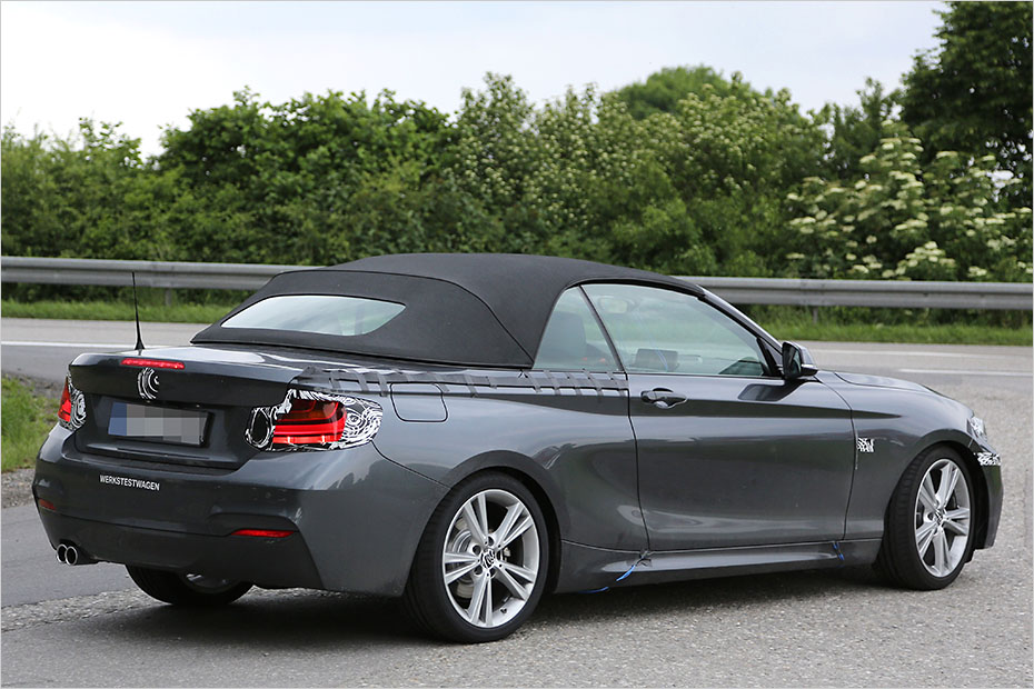 Bmw Cars News 2 Series Convertible Spied Arriving 2015