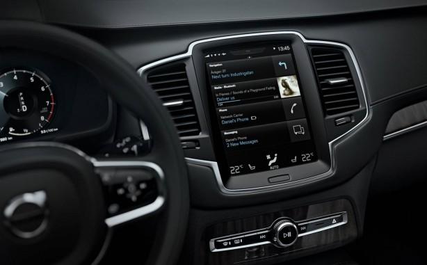 Volvo XC90 infotainment screen