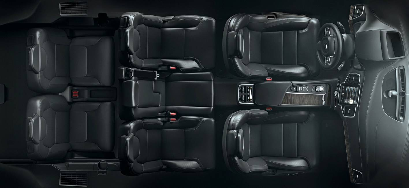 Volvo XC90 interior seating arrangements top view ...